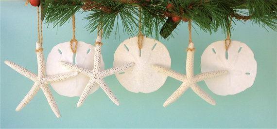 starfish and sand dollar christmas ornaments