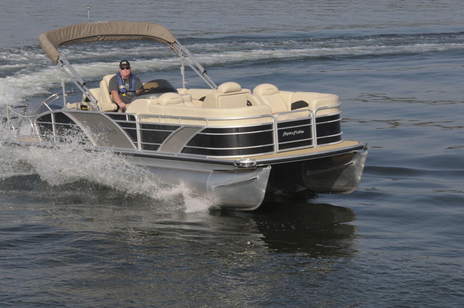 Backyard Testing Pontoon Deck Boat Magazine With Battery Wiring Diagram Verado Kicker Like