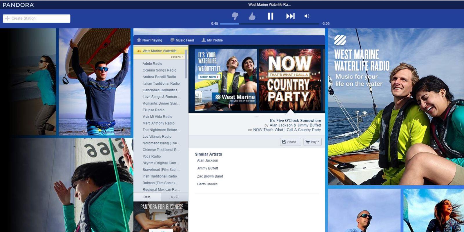 West Marine Launches Waterlife Station on Pandora Radio | Pontoon